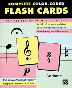 flashcards music